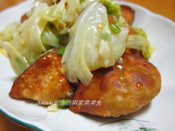 醋溜蔬菜燴黃金餃 (1)