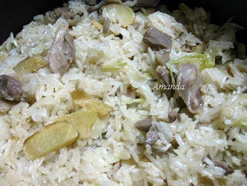 麻油雞高麗菜飯