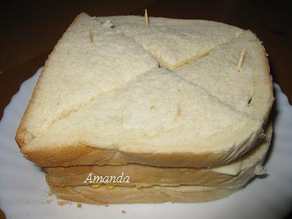 玉米蛋三明治成品
