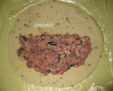 餃子型蝦肉餅製作