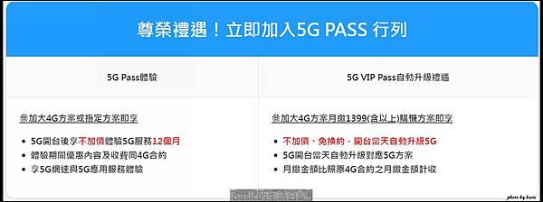 中華電信3/6發布5G PASS方案 , 有點吸引人喔..