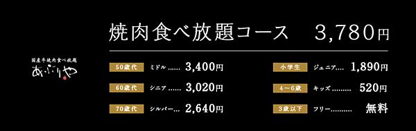 大阪平價燒肉吃到飽推薦-價位大人小孩不同.png