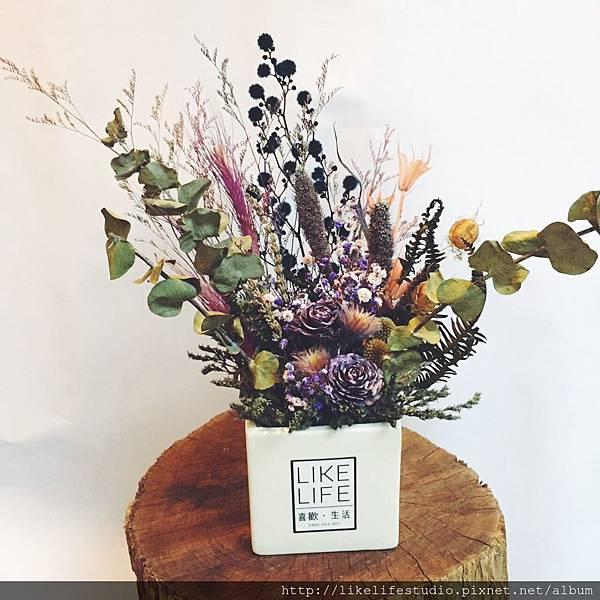 台北乾燥花店-喜歡生活乾燥花店,乾燥花花盆推薦2