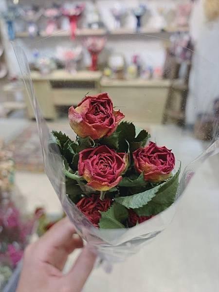 台北質感花店推薦,乾燥玫瑰花,質感玫瑰.JPG