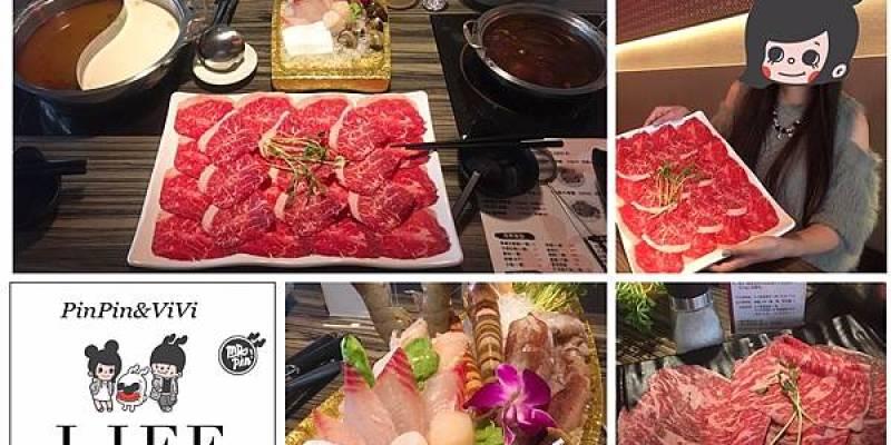 [台北火鍋]跟著PinPin&ViVi一起吃肉品中的老大-肉老大頂級肉品涮涮鍋-錦西店