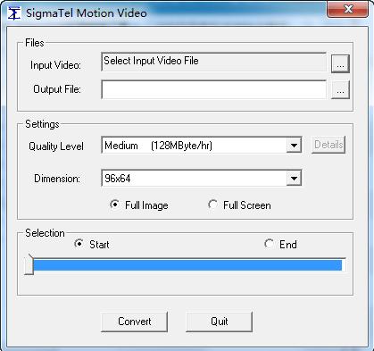视频转换工具下载-SigmaTel Motion Video绿色版