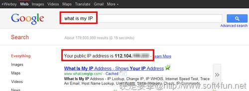 如何利用 Google 搜尋查得電腦上網真實 IP what_is_my_ip
