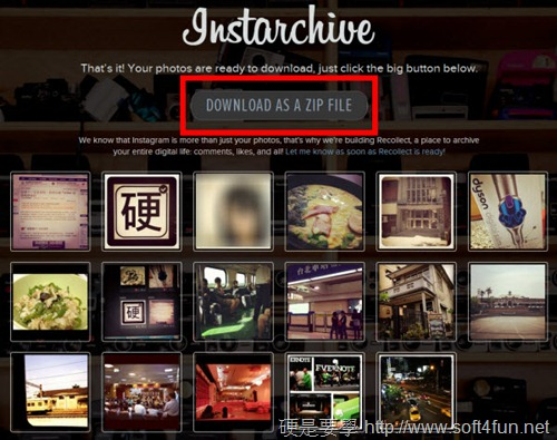 完整下載/備份上傳到 Instagram 的照片:Instarchive instarchive-03_thumb