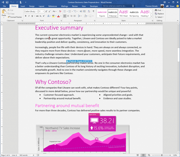 免破解,微軟 Office 2016 免費下載 Word-2016-Preview_Real-Time-Co-auth-1024x889