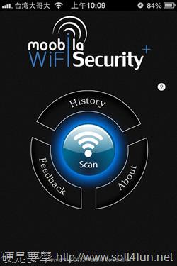自動分析附近 Wi-Fi 熱點的安全性:WiFi Security+(iOS) 2012-11-24-10.09.06