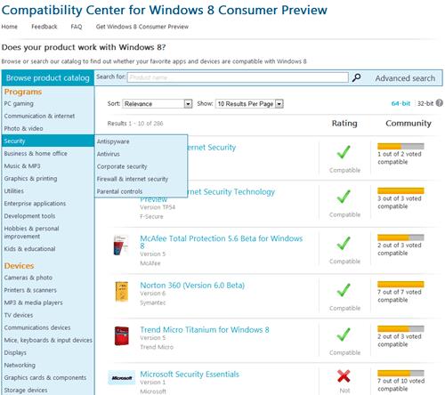 查詢 Windows 8 消費者預覽版支援哪些軟體 windows8--01