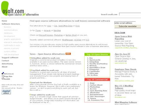 [網站推薦] 替你找到商業軟體的免費替代方案 - Osalt 363681482_c47170329b_o