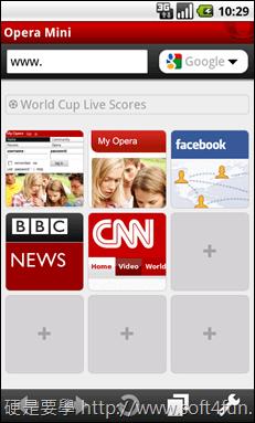 [新聞稿] Android專屬的Opera Mini 繁中正式版登場 01_speed_dial