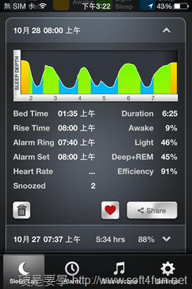 Sleep Time 兼具睡眠品質測量及智慧型鬧鐘的 App (Android/iOS) 2013-10-28-15.22.55