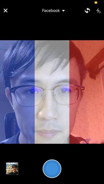 facebook法國國旗濾鏡