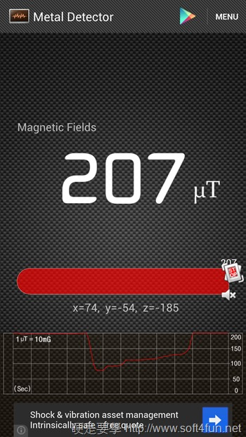 Metal Detector手機變成金屬探測器(Android) Screenshot_2013-09-03-21-45-37_1096023