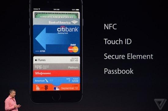 Apple 推出電子錢包 Apple Pay,利用指紋辨識刷卡付款 1410285009121348