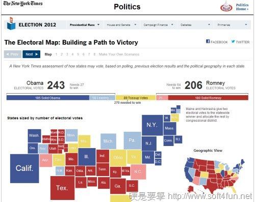 2012 美國總統大選投開票結果及投票資訊查詢 NY