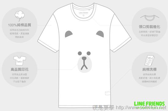 官方授權 LINE Friends 熊大、兔兔 T恤在 lativ 開賣啦! LINE-T-2