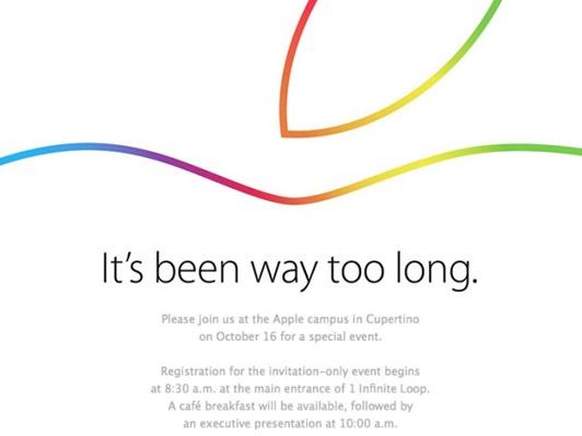 終於來了!Apple 於 16日召開發表會,iPad Air 2 與 OS X Yosemite 期待最高 apple