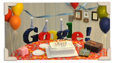 Google Doodle:Google 13歲生日,大喜日! google-13