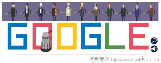 Google 首頁塗鴉:Doctor Who 英國科幻電視影集上映50週年 doctor-who-google