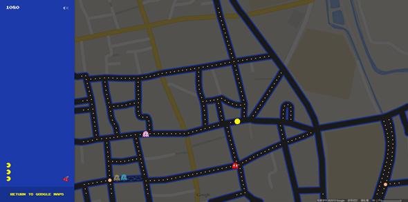 把真實道路變成小精靈地圖,Google地圖推出愚人節特別遊戲 Image57