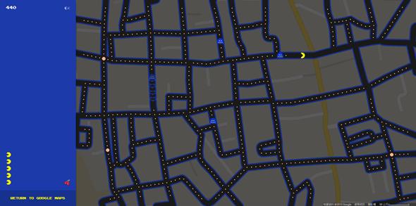 把真實道路變成小精靈地圖,Google地圖推出愚人節特別遊戲 Image58