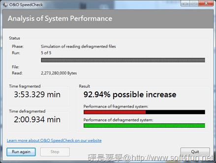 硬碟重組效能分析工具「O&O SpeedCheck」,重組效能立竿見影 _speedcheck-03_thumb