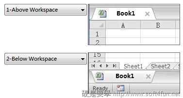讓你的 Word、Excel、PowerPoint 也有分頁功能 – OfficeTab (免費版) OfficeTab_Tab_Positionpng