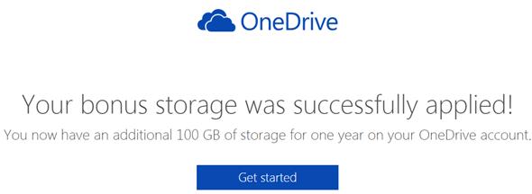免費讓OneDrive雲端儲存空間激增100GB! onedrive04