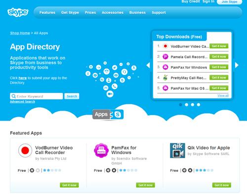PC版 Skype 也可以透過 APP 商店來擴充功能了 skype-app