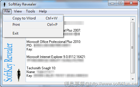 SoftKey Revealer 軟體序號/註冊碼查詢工具,可全部匯出備份 Softkey-revealer-03