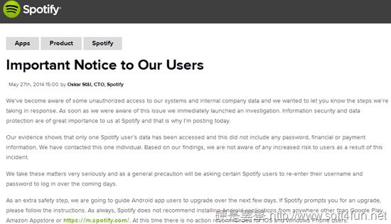 spotify notice