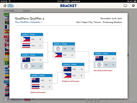 [WBC] 世界棒球經典賽官方 App,轉播、分析、賽程、計分表,完整賽事一手包 bracket_1