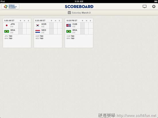 [WBC] 世界棒球經典賽官方 App,轉播、分析、賽程、計分表,完整賽事一手包 scoreboard