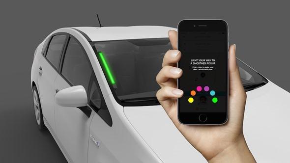 車潮中如何辨識你叫的計程車?Uber 測試新LED彩燈系統,燈色乘客App自選 uber-color-coding