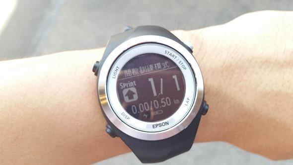EPSON 專業級路跑教練運動錶 RUNSENSE SF-710 可連續使用 30 小時 20140826_141111