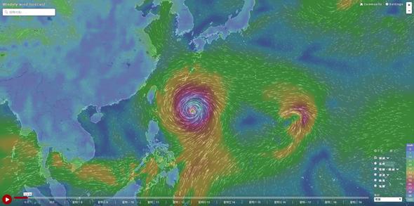 Windytv動態天氣圖,各種天氣、洋流資訊一看就懂 windyty09