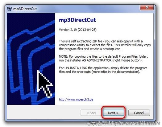 mp3DirectCut 輕鬆簡單擷取音樂的輕巧小幫手 image001
