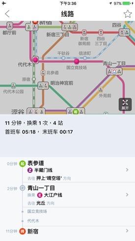 東京地鐵規劃 轉乘 路線圖 App