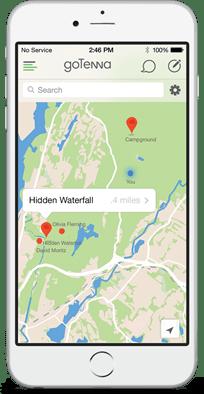 [科技新視野] 神奇的 goTenna 手機天線,沒訊號的鬼地方照樣可傳訊息! crowdwander5_with_iphone