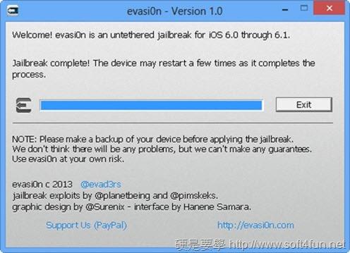 iOS 6.1.2 JB教學(含 evasi0n 及相關備份軟體下載) evasi0n-06