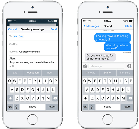iOS 8 推智慧鍵盤,依情境自動預測輸入字詞並開放自訂鍵盤布局 ios-8---2