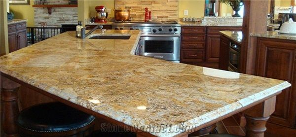 Golden Crystal Yellow Granite Countertops From United States