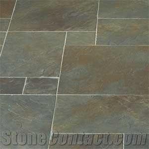 green moss slate pattern slabs tiles