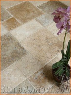 classic travertine opus romano floor
