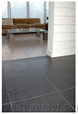 mustang slate floor tile brazil black