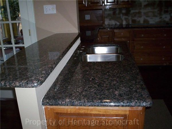 Shire Brown Granite Countertops From