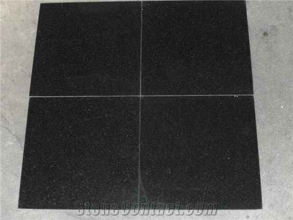 china absolute black granite tile from